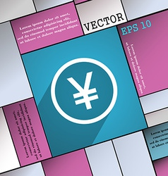 Japanese Yuan icon symbol Flat modern web design vector image