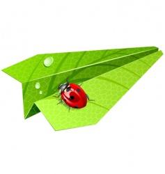 leaf airplane vector image
