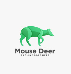 Logo mouse deer pose gradient colorful vector
