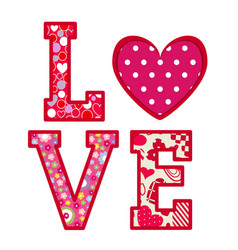 love greeting card valentines day vector image