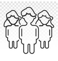 Male and female relationship flat icon vector