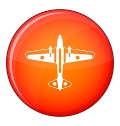 Military aircraft icon flat style vector image