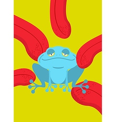 Narcotic frog Acid Blue Frog Narcotic reptile vector