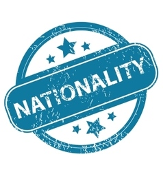 NATIONALITY round stamp vector