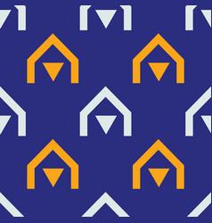 Native village seamless pattern vector