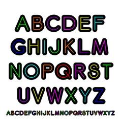 Neon style alphabet vector image
