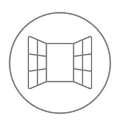 Open windows line icon vector