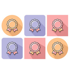 outlined icon award with parallel and not vector image