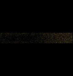 Panoramic abstract background gold star confetti vector
