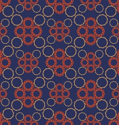Pattern eastern circles vector image