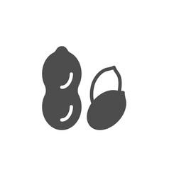 Peanut glyph icon or nut symbol vector