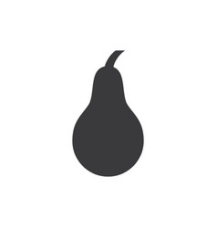 pear icon vector image