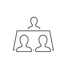 people sitting on table outline icon vector image