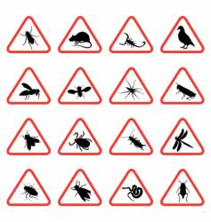 pest warning signs vector image