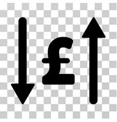 Pound swap icon vector
