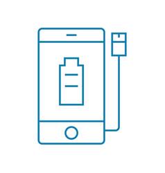 Power supplies linear icon concept power supplies vector