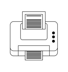 printer printing icon image vector image