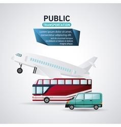 Public Transportation vehicles design vector image
