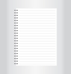 realistic spiral blank notebook isolated on vector image