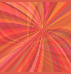 Red curved ray burst background - from curved rays vector