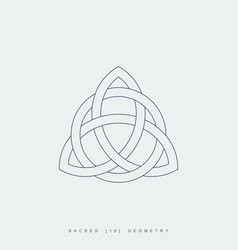 sacred geometry triquetra vector image