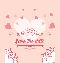 Save the date wedding vector