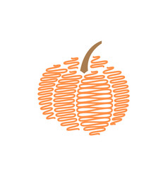 scribble pumpkin design template isolated vector image