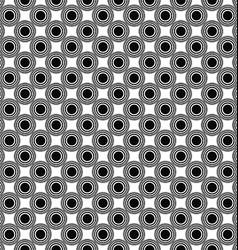 Seamless monochrome circle pattern design vector