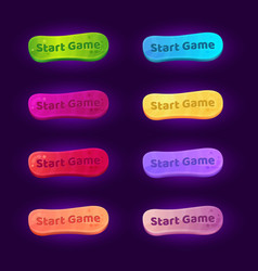 set 8 gradient buttons for arcade video games vector image
