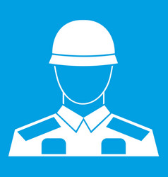 soldier icon white vector image