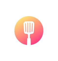 spatula round icon on white vector image