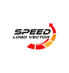 speed rpm logo vector image