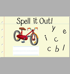 Spell it out bicycle vector