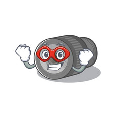 Super hero zoom lens in a cartoon bag vector
