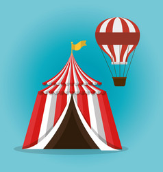 tent circus entertainment icon vector image