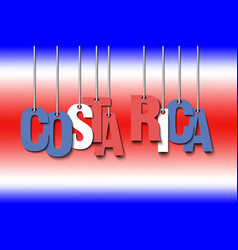 The word costa rica hang on the ropes vector