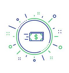 Transfer cash money line icon banking vector