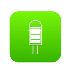 trash can icon digital green vector image