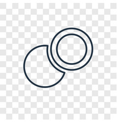 Two circles concept linear icon isolated on vector