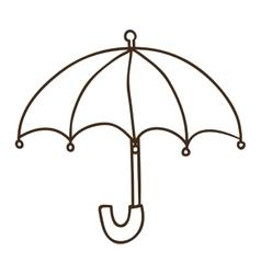 umbrella accessory icon vector image