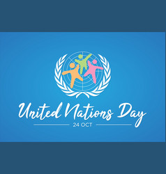 united nation day letter with abstract people vector image