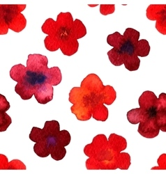 Watercolor seamless pattern with red vector