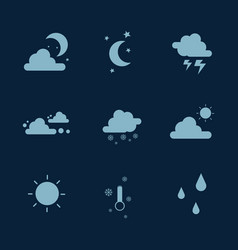Weather set icon collection stock vector