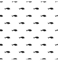 whale pattern seamless vector image