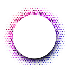 white round background with colorful dotted vector image