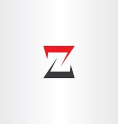 z letter z black red icon logotype sign vector image