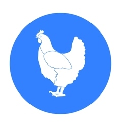 Chicken icon in black style isolated on white vector image vector image