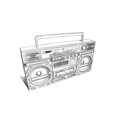 Oldschool boombox vector image