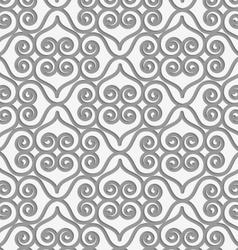 Perforated swirly grid with hearts vector image vector image