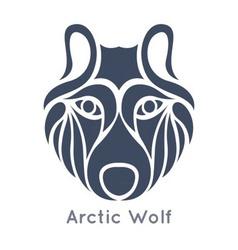 Arctic wolf icon vector